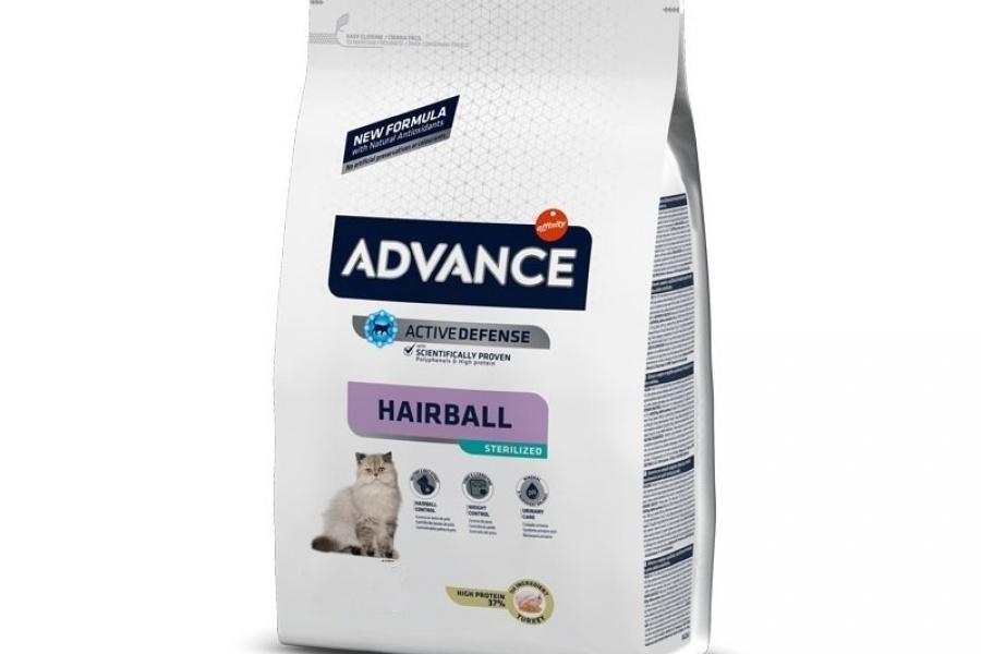 PIENSO PARA GATO ADVANCE CAT STERILIZED HAIRBALL 3KG