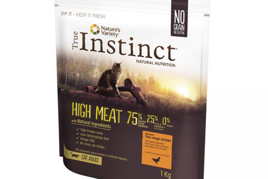 PIENSO PARA GATO INSTINCT CAT HIGH MEAT POLLO 1KG