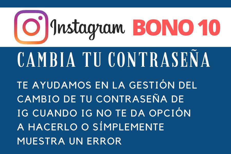 Bono 10 Recuperaciones Contraseña IG