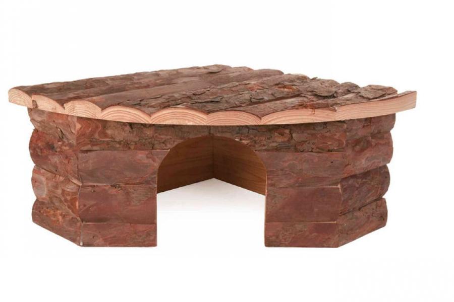 CASA DE MADERA NATURAL JESPER PARA CHINCHILLA 42 × 15 × 30/30 CM