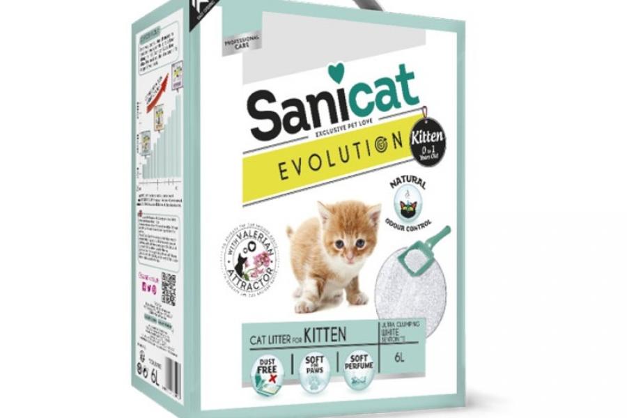 ARENA PARA GATO / LECHO PARA GATO SANICAT EVOLUTION KITTEN 5.1KG