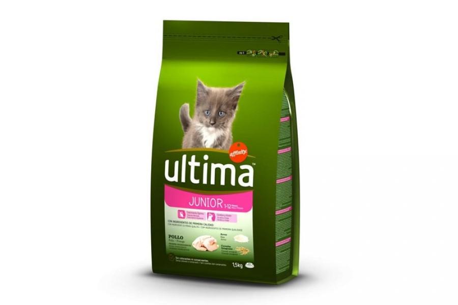 PIENSO PARA GATO ULTIMA CAT JUNIOR  DE POLLO1.5 KG