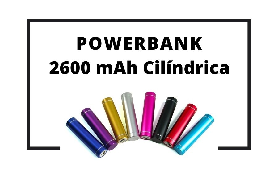 Powerbank 2600 mAh Cilíndrica