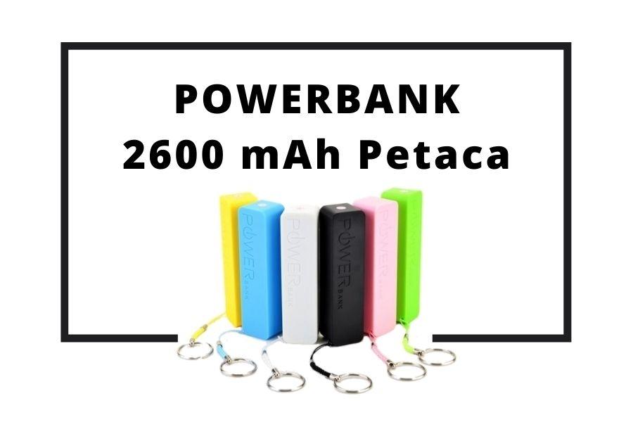 Powerbank 2600 mAh Petaca