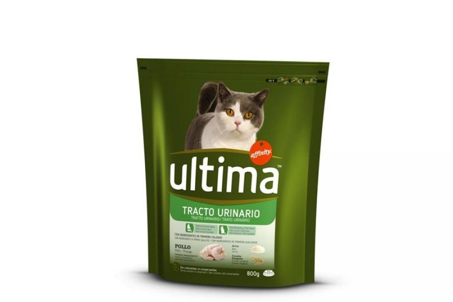 PIENSO PARA GATO ULTIMA CAT URINARY DE POLLO 800 GR.