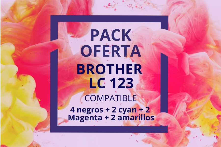 Pack Oferta Cartuchos Brother LC123