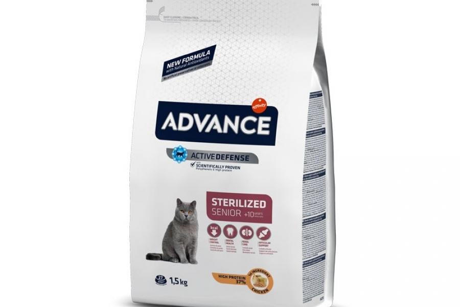 PIENSO PARA GATO ADVANCE CAT STERILIZED SENIOR 1,5 KG