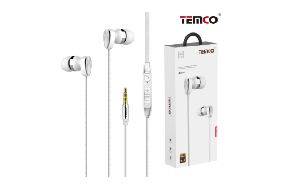 AURICULARES TEMCO ES02-B  -  BLANCO