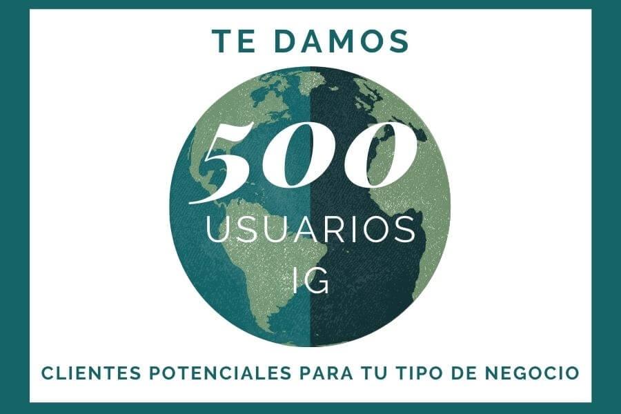 Informe 500 usuarios Instagram