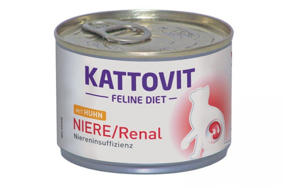 PATE PARA GATO KATTOVIT RENAL DE POLLO 85GR